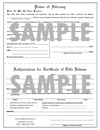 Power Of Attorney Form For Vehicle by Full Size Tablets Of 8 1 2 X 11 Of 100 Forms Of Power Of Attorney