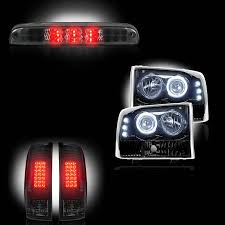 2002 ford excursion tail lights ford superduty f 250 to f 550 1999 04 recon smoked headlights tail