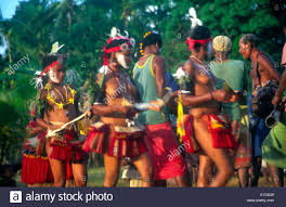 dancers at yam festival celebration trobriand islands papua new