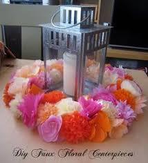 cheap diy party centerpieces paper flower centerpieces tissue