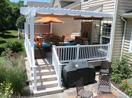 Backyard Shade Canopy by Deck With Pergolas Deck Pergolas In Lancaster U0026 Chester County