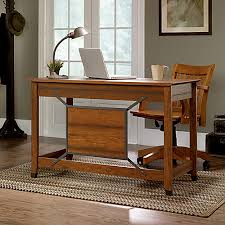 office depot writing desk sauder carson forge collection computer desk washington cherry by