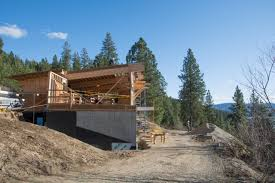Building A House On A Slope Blog Cabin 2015 Remodeling For A Mountainside Location Behind