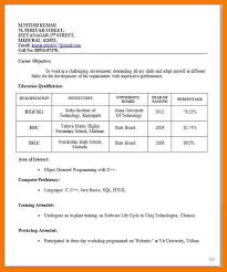 7 biodata format for teaching job mailroom clerk