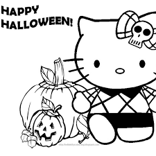 kitty halloween pumpkins coloring holiday