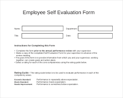 self evaluation self evaluation form example 8 self evaluation