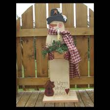 free primitive craft ideas free snowman mailbox sitter pattern