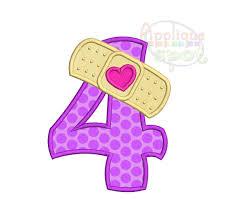 doc mcstuffins birthday bandaid fourth 4th birthday doc mcstuffins number 4 sizes