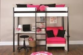 High Sleeper Bed With Futon Loft Beds With Desk And Futon Foter