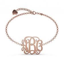 sterling silver monogram bracelet personalized monogram bracelet sterling silver jeulia jewelry