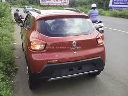 renault kwid boot space renault kwid top variant spotted all details u0026 images