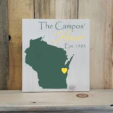 state shaped gifts wisconsin primitive state shaped family sign personalized state