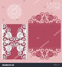 Wedding Invitation Card Template Laser Cut Wedding Invitation Card Template Stock Vector 516143449
