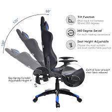 reclining gaming desk chair costway rakuten costway racing high back reclining gaming chair