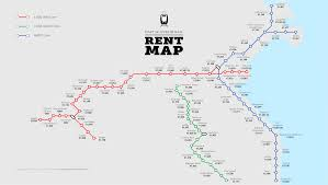 Map Of Dublin Ireland The Daft Ie Dublin Rail Rent Map By Stop Daft Insights