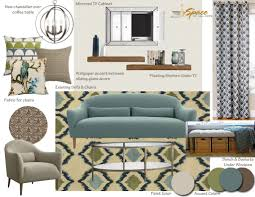 interior design portfolio from a space to call home mid century modern living room inspiration board