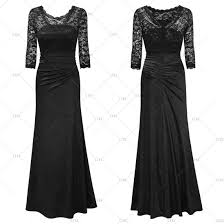 womens long prom lace formal evening cocktail party bridesmaids