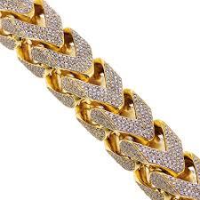 chain bracelet with diamonds images Diamond franco bracelet 10k yellow gold 43 11 ct 410 grams jpg