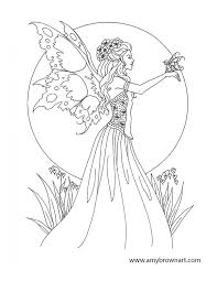 giants fairies coloring pages print coloring