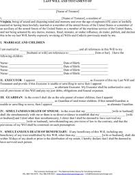 download virginia last will and testament form for free formtemplate