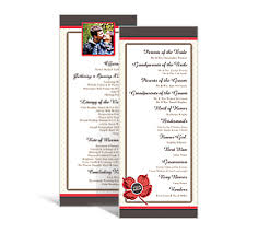 personalized wedding programs wedding tea length programs 3 625 x 8 875 customizable wedding