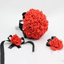 Red Rose Wrist Corsage Wrist Corsage Picture More Detailed Picture About 3 Pcs Bridal