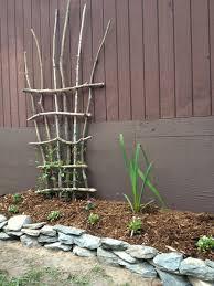 homemade trellis for my clamatus gardening pinterest