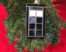 stained glass tardis etsy