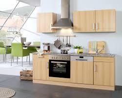 K Henzeile Preiswert Küchenzeile Varel Küche Mit E Geräten Breite 220 Cm Buche