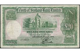 banknote yearbook of scotland bank limited 20 1 july 1943 serial number