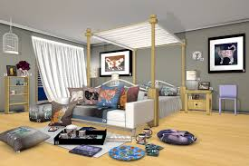 comfy cat bedroom the whimsical post a bedroom scene with many items covered with beautiful painted cat images