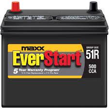 nissan canada battery warranty everstart maxx lead acid automotive battery group size 51r