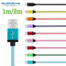 oudneas micro usb cable 5v 2a quick charge nylon cord data sync