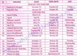list of closed holidays during the year 2016 sridhar anumula s