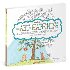 the art of happiness whimsical designs coloring book for adults