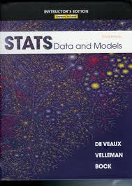 stats data and models instructor u0027s edition richard d velleman