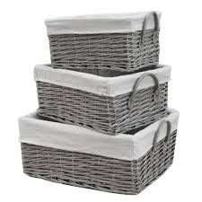 grey storage baskets aquanova lubin storage basket silver gray