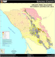 Sonoma State Map by Cal Fire Sonoma County Fhsz Map
