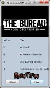 the bureau trainer the bureau xcom declassified trainer 4 v1 0 32 bit dx9 mrantifun