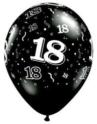 balloons for 18th birthday black 18th birthday balloons