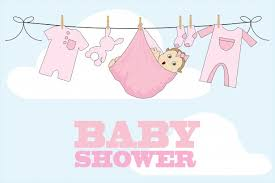 baby shower card girl free stock photo domain pictures