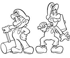 Mario Luigi Coloring Coloring Pages Ideas