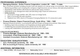 finance resume template finance cv sle