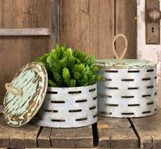 perforated boxes with wood lids set of 2 wildflowers