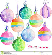 collection set of watercolor colored decorations