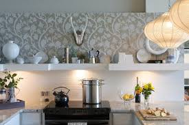 kitchen wallpaper backsplash contemporary kitchen backsplash wallpaper home decor and design