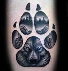 blue eyed wolf paw mens arm designs dya arm