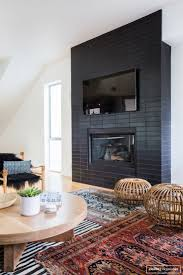view black painted fireplace home design very nice simple at black