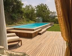 rivestimento in legno per piscine fuori terra piscina fuori terra in legno piscines terra legno