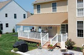 Awnings For Porches This Awning Allows This Deck To Double As A Covered Porch